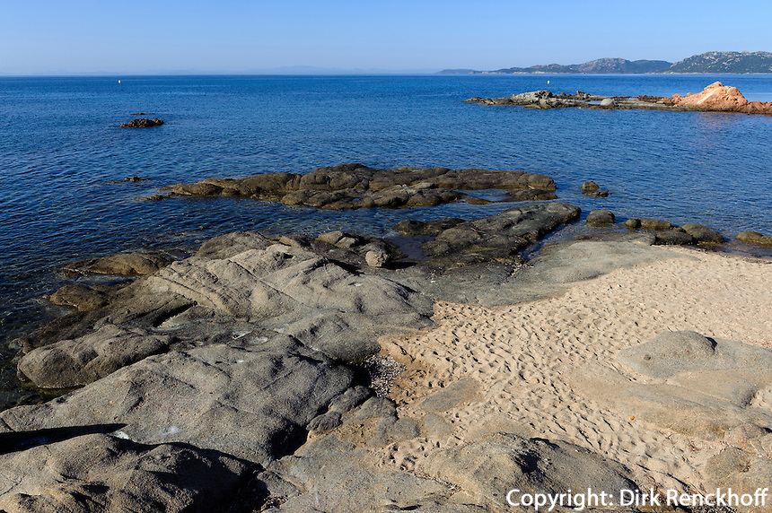 Plage de Palombaggia nahe Portovecchio nahe Portovecchio, Korsika, Frankreich