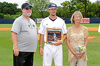 16 May 2010:  FIU's Corey Polizzano (6) and family pose for a photo on the field prior to the game as FIU honored its seniors.  The FIU Golden Panthers defeated the University of South Alabama Jaguars, 5-0, at University Park Stadium in Miami, Florida.