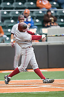 Jake Schlander of the Stanford Cardinal against the Texas Longhorns at  UFCU Disch-Falk Field in Austin, Texas on Friday February 26th, 2100.  (Photo by Andrew Woolley / Four Seam Images)