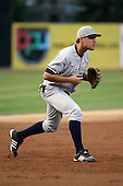 September 9 2008:  Mike Lyon of the Staten Island Yankees, Class-A affiliate of the NY Yankees, during Game One of the opening playoff series at Russell Diethrick Park in Jamestown, NY.  Photo by:  Mike Janes/Four Seam Images