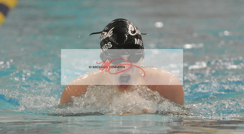 Chugiak's Reid Blackstone swims the 200-yard IM in a preliminary heat of the state finals Friday, Nov. 6, 2015.  Photo for the Star by Michael Dinneen