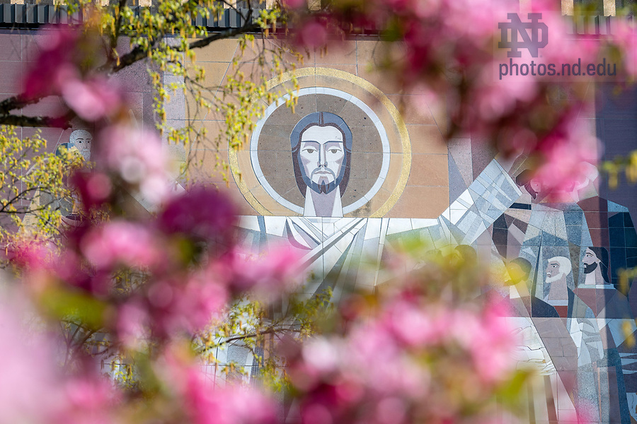 May 7, 2018; The Word of Life Mural, commonly known as Touchdown Jesus, spring 2018 (Photo by Matt Cashore/University of Notre Dame)