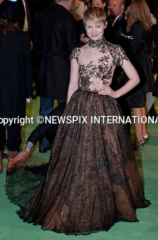 """Mia Wasikowska.attended the Royal World Premiere of Alice in Wonderland, held in aid of the The Prince's Foundation for Children and the Artsat the Odeon Leicester Square,London_25/02/2010.Mandatory Photo Credit: ©Dias/Newspix International..**ALL FEES PAYABLE TO: """"NEWSPIX INTERNATIONAL""""**..PHOTO CREDIT MANDATORY!!: NEWSPIX INTERNATIONAL(Failure to credit will incur a surcharge of 100% of reproduction fees)..IMMEDIATE CONFIRMATION OF USAGE REQUIRED:.Newspix International, 31 Chinnery Hill, Bishop's Stortford, ENGLAND CM23 3PS.Tel:+441279 324672  ; Fax: +441279656877.Mobile:  0777568 1153.e-mail: info@newspixinternational.co.uk"""