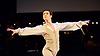 English National Ballet <br /> Emerging Dancer 2015 <br /> at Queen Elizabeth Hall, Southbank, London, Great Britain <br /> 23rd March 2015 <br /> <br /> <br /> Vitor Menezes in Nutcracker solo <br /> <br /> <br /> <br /> <br /> Photograph by Elliott Franks <br /> Image licensed to Elliott Franks Photography Services