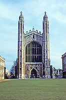 Cambridge: King's Chapel--elevation. Photo '82.