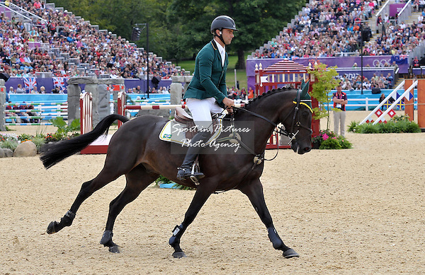 Ruy Fonseca (BRA) riding Tom Bombadill Too. Equestrian Eventing - PHOTO: Mandatory by-line: Garry Bowden/SIP/Pinnacle - Photo Agency UK Tel: +44(0)1363 881025 - Mobile:0797 1270 681 - VAT Reg No: 768 6958 48 - 31/07/2012 - 2012 Olympics - Greenwich, London, England.