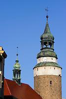 Turm der Annekapelle  in Jelenia Gora (Hirschberg), Woiwodschaft Niederschlesien (Wojew&oacute;dztwo dolnośląskie), Polen, Europa<br /> Steeple of St.Anna in Jelenia Gora, Poland, Europe