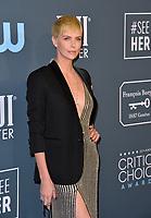 SANTA MONICA, USA. January 12, 2020: Charlize Theron at the 25th Annual Critics' Choice Awards at the Barker Hangar, Santa Monica.<br /> Picture: Paul Smith/Featureflash