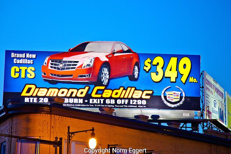 Billboard on Shrewsbury Street, Worcester, MA