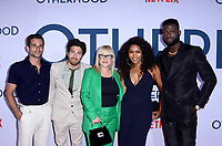 """LOS ANGELES - JUL 31:  Frank De Julio, Jake Hoffman, Patricia Arquette, Angela Bassett, Sinqua Walls at the """"Otherhood"""" Photo Call at the Egyptian Theater on July 31, 2019 in Los Angeles, CA"""
