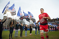 Juan Smith of Toulon runs out onto the field for the start of the second half. European Rugby Champions Cup match, between Bath Rugby and RC Toulon on January 23, 2016 at the Recreation Ground in Bath, England. Photo by: Patrick Khachfe / Onside Images