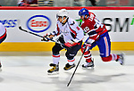 13 December 2008: Washington Capitals' left wing forward Alex Ovechkin from Russia rushes up ice in the second period against the Montreal Canadiens at the Bell Centre in Montreal, Quebec, Canada. ***** Editorial Sales Only ***** Mandatory Photo Credit: Ed Wolfstein Photo