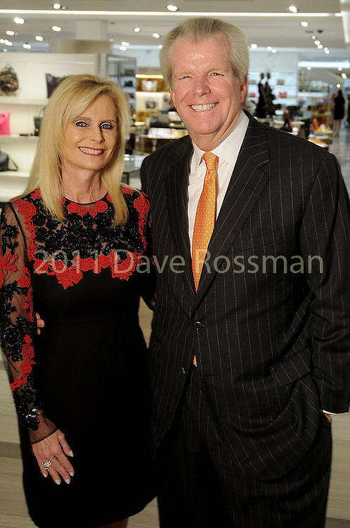 Chairs Jo Lynn and Gregg Falgout at the Saks Fifth Avenue Key to the Cure benefitting Breast Care Centers at Memorial Hermann Wednesday Oct. 26,2016.(Dave Rossman photo)