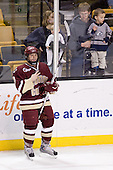 Nate Gerbe (BC - 9) - The Boston College Eagles defeated the University of Vermont Catamounts 4-0 in the Hockey East championship game on Saturday, March 22, 2008, at TD BankNorth Garden in Boston, Massachusetts.