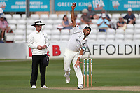 Jeetan Patel in bowling action for Warwickshire during Essex CCC vs Warwickshire CCC, Specsavers County Championship Division 1 Cricket at The Cloudfm County Ground on 14th July 2019