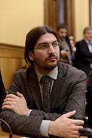 Roma, 27 Gennaio 2015.<br /> Samuele Segoni.<br /> Conferenza stampa alla Camera dei Deputati dei 9 Parlamentari usciti dal Movimento 5 Stelle.