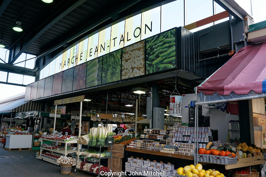 Interior of the Jean Talon Market, Montreal, Quebec, Canada