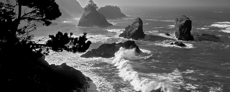 Waves and rocks at Boardman State Park, Oregon.