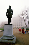 Hans Christian Heg statue outside the Wisconsin State Capitol.