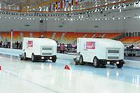 SPEEDSKATING: SOCHI: Adler Arena, 20-03-2013, Training, ijsmachines, © Martin de Jong