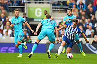 Lewis Dunk of Brighton and Hove Albion takes on Eric Dier of Tottenham Hotspur during Brighton & Hove Albion vs Tottenham Hotspur, Premier League Football at the American Express Community Stadium on 5th October 2019