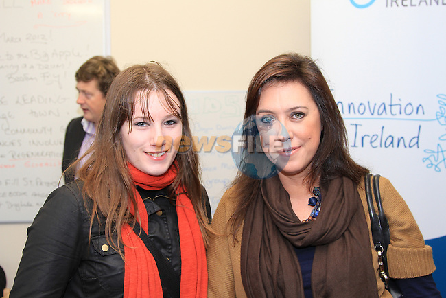 Sinead McCormack and Caoimhe Mulroy (of Once Upon Design) at the opening of the Local Hero Time Bank..Picture: Shane Maguire / www.newsfile.ie