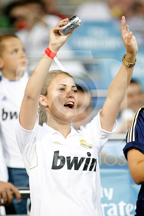 Real Madrid's supporter during Spanish Supercup 1st match.August 14,2011. (ALTERPHOTOS/Acero)