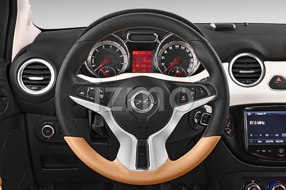 Car pictures of steering wheel view of a 2015 Opel Adam Rocks 3 Door Hatchback Steering Wheel