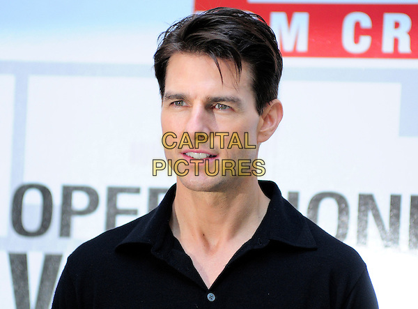 "TOM CRUISE .Photocall for ""Valkyrie"" or ""Operazione Valchiria"" Italian title, Rome, Italy, January 28th 2009..portrait headshot black shirt .CAP/CAV.©Luca Cavallari/Capital Pictures"