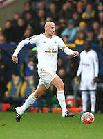 Jonjo Shelvey of Swansea   during the Emirates FA Cup 3rd Round between Oxford United v Swansea     played at Kassam Stadium  on 10th January 2016 in Oxford