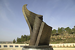 Israel, Jerusalem mountains, the 9/11 memorial by Eliezer Weishoff in Jerusalem