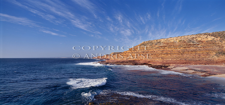 Coastline and rock formations near Kilbarri. Western Australia. Australia.