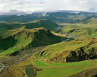 Höfðabrekka og Fagridalur, Hvammshreppur /.Hofdabrekka and Fagridalur, Hvammshreppur.