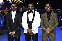 "Stephen Odubola, Rapman and Michael Ward<br /> arriving for the ""Blue Story"" premiere at the Curzon Mayfair, London.<br /> <br /> ©Ash Knotek  D3534 14/11/2019"