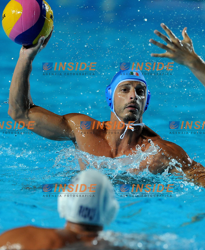 Roma 22nd July 2009 - 13th Fina World Championships From 17th to 2nd August 2009..Water Polo Men's..ITA -ROM ....ITALY  ..CT. Campagna Alessandro..1 Tempesti Stefano..2 Mistrangelo Federico..3 Giorgetti Alex..4 Buonocore Fabrizio..5 Gallo Valentino..6 Felugo Maurizio..7 Mangiante Andrea..8 Rizzo Valerio..9 Figari Niccol?..10 Calcaterra Alessandro..11 Aicardi Matteo..12 Fiorentini Goran..13 Negri Tommaso....ROMANIA..CT Kovaks Istvan..1 Dragusin Eduard Mihai..2 Radu Cosmin Alexandru..3 Negrean Tiberiu..4 Diaconu Nicolae Virgil..5 Iosep Andrei..6 Busila Dan Andrei..7 Dunca Cheorghe Florin..8 Matei Guiman Alexandru..9 Andrei Dina Edward..10 Georgescu Ramiro..11 Ghiban Alexandru..12 Kadar Kalman..13 Stoenescu Dragos Constantin....photo: Roma2009.com/InsideFoto/SeaSee.com