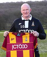 Bradford City unveil their new Manager Simon Grayson at their Apperley Bridge training facilities, Bradford, England on 12 February 2018. Photo by Thomas Gadd.