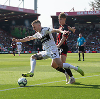 Bournemouth's David Brooks  (right)  vies for possession with Fulham's Joe Bryan (left) <br /> <br /> Photographer David Horton/CameraSport<br /> <br /> The Premier League - Bournemouth v Fulham - Saturday 20th April 2019 - Vitality Stadium - Bournemouth<br /> <br /> World Copyright © 2019 CameraSport. All rights reserved. 43 Linden Ave. Countesthorpe. Leicester. England. LE8 5PG - Tel: +44 (0) 116 277 4147 - admin@camerasport.com - www.camerasport.com