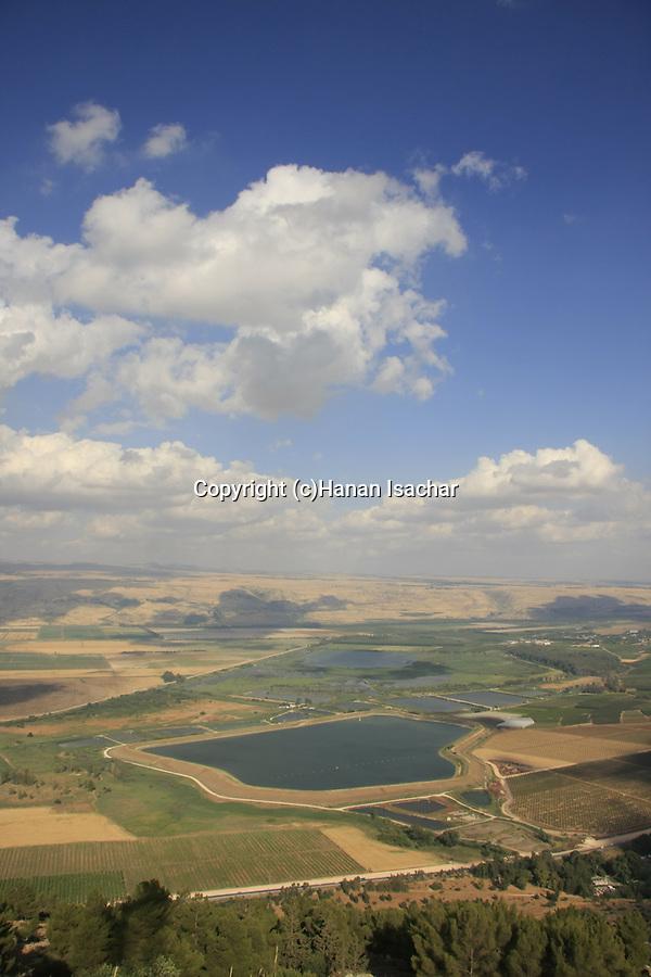 Israel, Upper Galilee, view of the Hula Valley from Keren Naftali