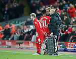 Liverpool's Jurgen Klopp hugs Roberto Firmino during the Premier League match at Anfield Stadium, Liverpool. Picture date December 27th, 2016 Pic David Klein/Sportimage