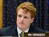 """United States Representative Joseph P. Kennedy III (Democrat of Massachusetts) questions U.S. Secretary of State Hillary Rodham Clinton as she testifies before the U.S. House Committee on Foreign Relations on """"Terrorist Attack in Benghazi: The Secretary of State's View"""" in Washington, D.C. on Wednesday, January 23, 2013.  It was Kennedy's first hearing as a member of the committee..Credit: Ron Sachs / CNP.(RESTRICTION: NO New York or New Jersey Newspapers or newspapers within a 75 mile radius of New York City)"""