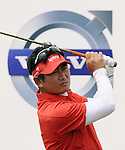 SUZHOU, CHINA - APRIL 17:  Y.E. Yang of Korea tees off on the 2nd hole during the Round Three of the Volvo China Open on April 17, 2010 in Suzhou, China. Photo by Victor Fraile / The Power of Sport Images