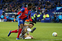 Fejiri Okenabirhie of Dagenham and Jay Harris of Tranmere Rovers during Tranmere Rovers vs Dagenham & Redbridge, Vanarama National League Football at Prenton Park on 11th November 2017