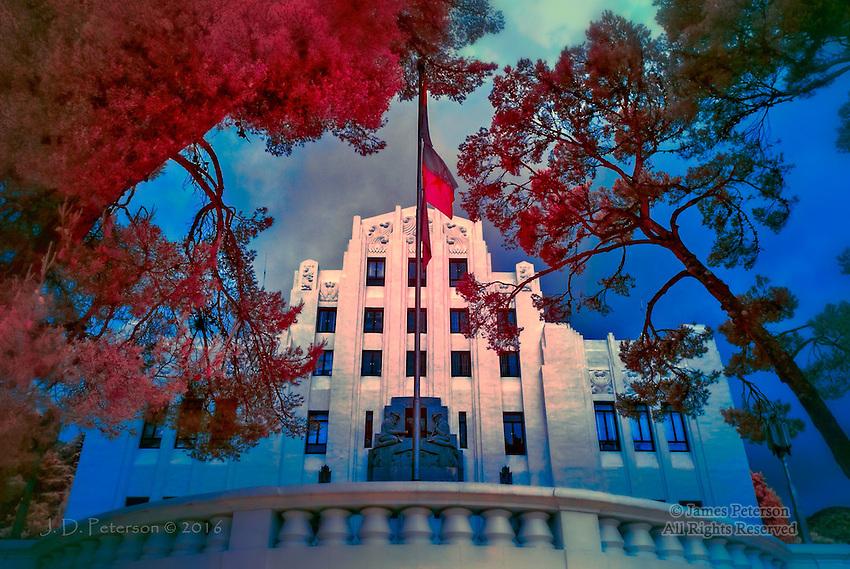 Cochise County Courthouse, Bisbee, Arizona (Infrared)