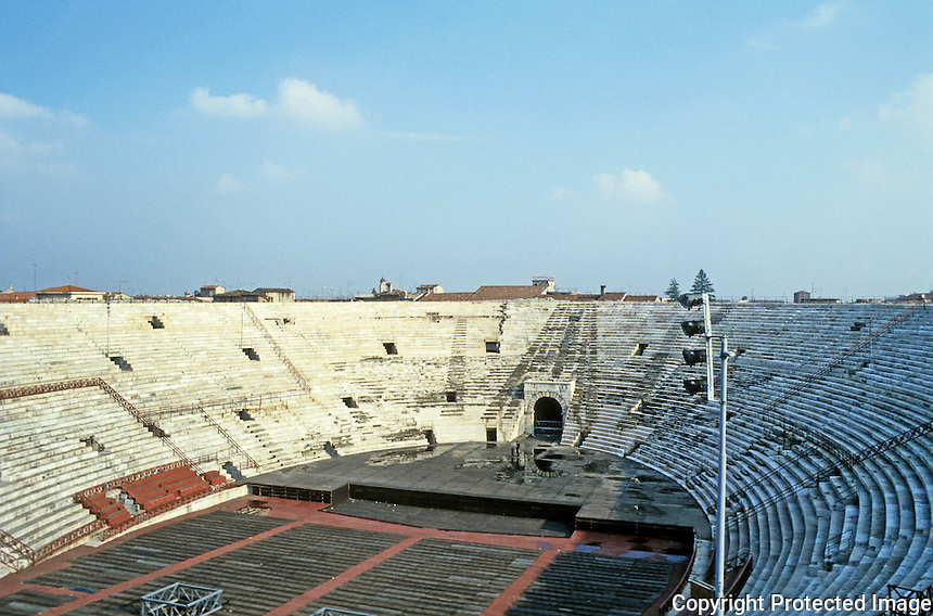 Italy: Verona--Roman Arena, about 100 A.D. Sat about 25,000.