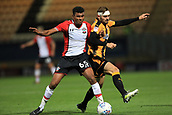 3rd October 2017, The Abbey Stadium, Cambridge, England; Football League Trophy Group stage, Cambridge United versus Southampton U21; Marcus Barnes of Southampton battles with Greg Taylor of Cambridge United