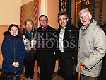 Archdeacon Jim Carroll with Olivia, Pamela and Pat Harty and Eddie Wright after his last mass in Our Lady of Lourdes church. Photo:Colin Bell/pressphotos.ie