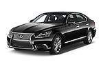 2015 Lexus LS 460 4 Door Sedan angular front stock photos of front three quarter view