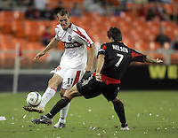 Nate Jaqua, left, Ryan Nelson, right, Chicago vs DC United at RFK Stadium in Washington, DC.