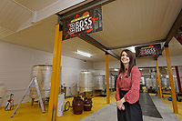 Sarah John, owner of Boss Brewing in Swansea, Wales, UK. Monday 14 January 2018