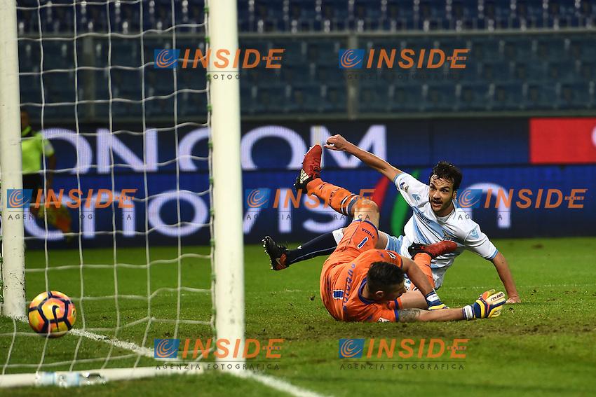 gol Marco Parolo Lazio Goal celebration <br /> Genoa 10-12-2016 Stadio Marassi Football Calcio Serie A 2016/2017 Sampdoria - Lazio foto Image Sport/Insidefoto